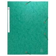 Scotten Elastomap zonder klep in gewafeld glanskarton 600g/m2 - A4 - Groen