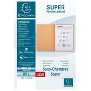 SUPER 80 - Pak van 250 inlegmappen - 22x31cm voor A4 - Oranje (830007E)