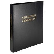 Reliure registre économique 32x26cm 4 anneaux - Assemblées générales.