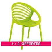 Pack fauteuils Bizbee vert - 4 achetés = 2 offerts