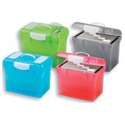 Elba coffret dossiers susp. Class'n'Go Design couleurs assorties: turquoise, gris, vert et rose