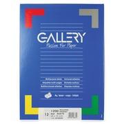 Gallery étiquettes blanches ft 66 x 72 mm (l x h), coins arrondis, 12 par feuille