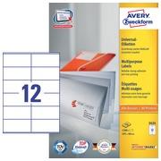 Etiquette Avery Zweckform 3424 105x48mm blanc 1200 pièces