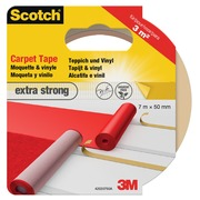 Scotch extra sterke tapijttape, ft 50 mm x 7 m, blisterverpakking