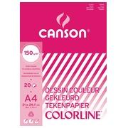Canson papier à dessin coloré Colorline ft 21 x 29,7 cm (A4)