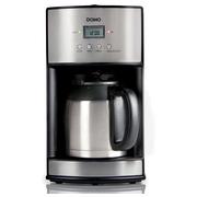Domo cafetière avec minuterie et filtre permanent 1,2 litres, inox