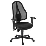 Bureaustoel Holly met regelbare armleuning 3D - permanent contact - zwart