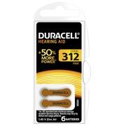 Blister 6 piles Duracell pour appareil auditif type 312