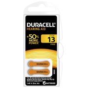 Blister 6 piles Duracell pour Appareil Auditif type 13