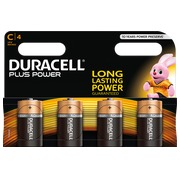 Alkaline Batterien C LR14 Duracell Plus Power blister von 4.