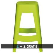 Pack hoge krukken Bilbao - 1 kopen + 1 gratis - groen