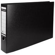 Pergamy ordner, uit karton, voor ft A3, liggend, rug van 8 cm, zwart