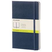 Carnet Moleskine rigide 13 x 21 cm ivoire uni 240 pages - bleu nuit