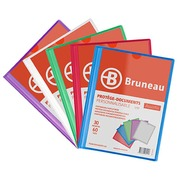 Translucent and personalizable document holders Bruneau polypropylene A4 30 sleeves - 60 sights assortment