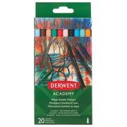 Derwent feutre quarellable Academy, blister de 20 pièces en couleurs assorties