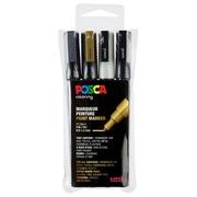 Posca marqueur de peinture PC-3M, set de 4 marqueurs en couleurs assorties