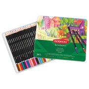 Derwent crayon de couleur Academy , boîte métallique de 24 pièces en couleurs assorties