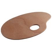 Talens palette ovale, en bois
