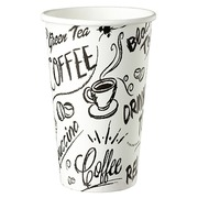 Disposable cup 'Graffiti' cardboard 35 cl - pack of 100