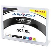 Pack cartridges Armor compatibel HP 903XL 4 kleuren voor inkjetprinter