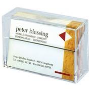 Boîte à cartes de visite Sigel VA110 85x56x27mm translucide