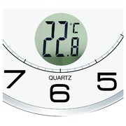 Horloge murale Unilux Tempus radio-contrôlée Ø30,5cm gris cl