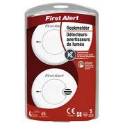 Détecteur de fumée First Alert Compact paquet de 2