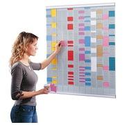 Planning à fiches T multi-usages 12 colonnes Nobo