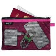 Leitz WOW Pochette, L, 2 compartiments, rose