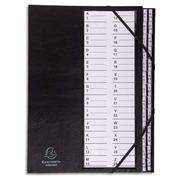 Ordnungsmappe mit festem Deckel, Gummizug und dehnbarem Harmonika-Rücken, 26 Fächer mit Kunststofftaben A-Z Ordonator, für Format DIN A4