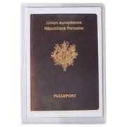 Sachet de 10 étuis de protection pour passeport 2 volets PVC lisse 20/100e