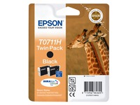 Pack van 2 cartridges Epson T0711 zwart