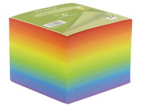 Supplementary refill for plexi cube rainbow coloured non-sticking notes