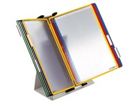 Protège-documents pivotant pupitre Tarifold PVC A4 10 pochettes couleurs assorties+ support
