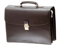 Leather briefcase, 3 cases