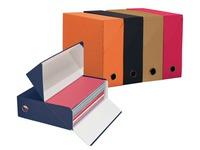 Archiv-schachtel Rücke 9 cm - wie aus Leinen - farbig sortiert