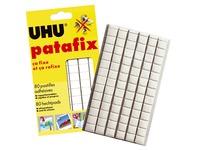 Pâte adhésive Uhu Patafix Original blanche repositionnable - Etui de 80 pastilles