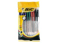 Ballpoint pen Bic Cristal Original fine writing - Pack of 10 classic colours