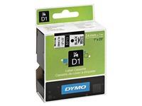 Ruban polyester Dymo D1 24 mm 53713 blanc écriture noire