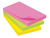 Block 100 repositionable notes JMB, 76 x 127 mm, assorted neon colours