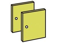 Set 2 doors kiwi
