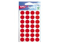Agipa, 168 coloured round labels, Ø 15 mm