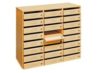 Mail sorter cabinet 24 compartments beech