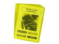 Chemise coin plastique Bruneau A4 PVC 20/100e couleur - Boîte de 100