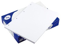 Paper A4 white 80 g Clairefontaine Clairalfa perforated 4 holes - Ream of 500 sheets