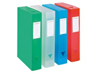 Plastic storage box, back 8 cm - translucent assorted