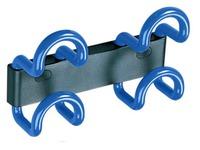 Saga wall hanger, 2 coloured double hooks, length 23 cm