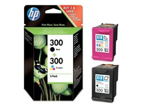 Pack cartridges zwart + kleur HP 300