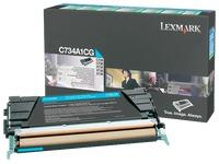 Toner Lexmark C734A1X couleurs séparées