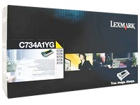 Toner Lexmark C734A1 geel
